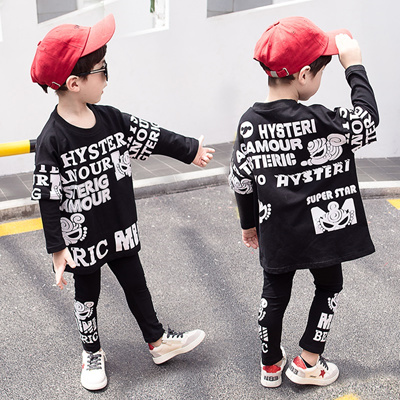 18f1c540e4d7f Boys clothes 2019 autumn kids clothing sets full sleeve sweatshirt and  pants children outfit sport s