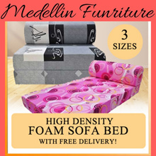 500 Free Qpoints [FREE PILLOW!!!] High Density Foam Sofa Bed.Sofabed SINGLE SUPER SINGLE QUEEN VIRO