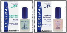 Ecrinal Vitamin Nail Strengthener  Flexible Base Coat fortifying cream. OPI Nail Envy PINK
