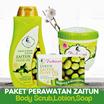 Get 3pcs - Paket Perawatan Zaitun (Lotion body scrub and soap)