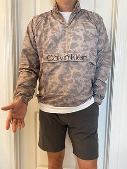 캘빈클라인 남녀공용 반집업 아노락 윈드브레이커 카모 자켓