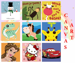 ❤ Kids Canvas Painting Art and Craft ❤ Goodie Bag/ Kids Children School Party ❤ Educational Oil