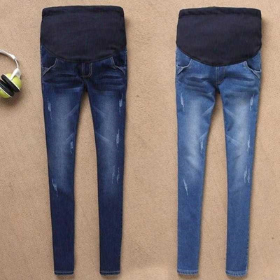 194f5c87627b5 wholesale Maternity Jeans For Pregnant Women Pregnancy Winter Warm Jeans  Pants Maternity Clothes For
