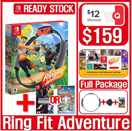[NEW ARRIVAL]Switch Ring Fit Adventure Standard Edition// Rinkon Con + Leg Strap + Game Title