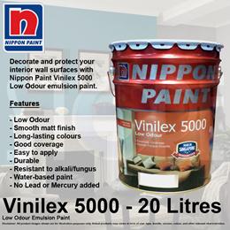 Nippon Paint Vinilex 5000 Low Odour Emulsion Paint 20 Litre