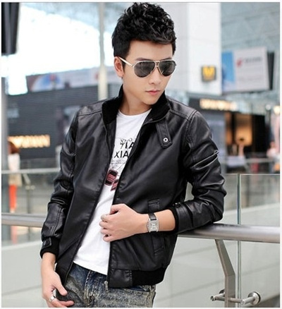 Qoo10 Autumn And Winter Style Mens Leather Jacket Coat