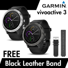 Garmin vivoactive 3 + FREE Black Leather Band