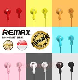 ★SG Seller★ Original Remax RM301 Candy Earpiece Earphone Headset Ear Phone Headphone Handfree RM-301