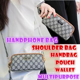Korea fashion Handbag pouch shoulder bag handphone bags wallet waterproof PU leather multipurpose