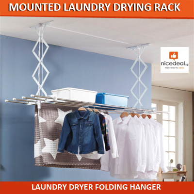Qoo10 Laundry Drying Rack Furniture Deco