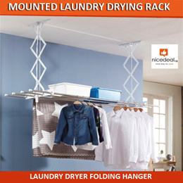 [Lowest Price] Ceiling Mounted String Chain Laundry Drying Rack Best Selling in KOREA/Clothes Laundr