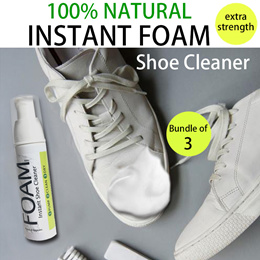 ♥INSTANT FOAM SHOE WASH♥EFFECTIVE Extra Strength!No parabens SLS alcoholFor all shoes SNEAKERS 80ml