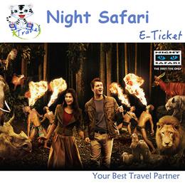 【99 TRAVEL】Singapore Night Safari- Admission7.15/8.15/9.15 with Tram ride E-ticket 新加坡夜间动物园电子票