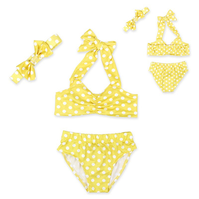 a12dca092bfd3 2018 Summer Baby Cute Dot Baby Girls Swimwear Cute Swimsuit Kids Bikini  Child Swimsuit April