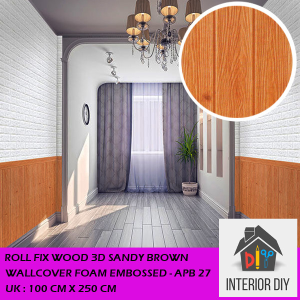 fit to viewer. prev next. Roll Fix Wood 3D Sandy Brown Wallcover Foam Embossed ...