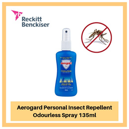 Aerogard Personal Insect Repellent Odourless Spray 135ml