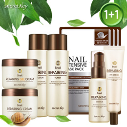 【Secret Key HQ 】Snail Repairing Skincare 1+1/ Toner/Essence/Cream/Gelcream/Eye Cream/Emulsion