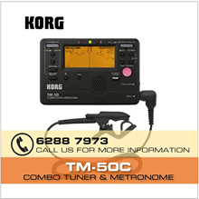 [Very Accurate Tuning] Korg TM-50C Combo Tuner / Metronome with Contact Microphone | Korg TM-60C