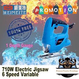 powertools.sg 710W JIGSAW / JIG SAW / ELECTRIC JIG SAW / UP TO 45 DEGREES CUT