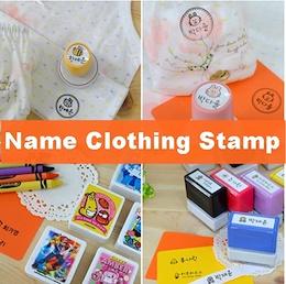 Clothing Stamp+Gift Waterproof Sticker/Personalised Name Sticker Stamp/Robocar poli Sticker /Tayo