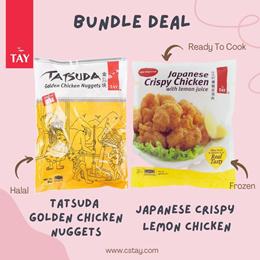 [Bundle Deal] Tatsuda Golden Chicken Nuggets(1kg) + Japanese Crispy Lemon Chicken (400g)