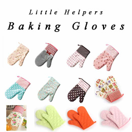 SG Local Seller ★ Thick Cotton ★ Good quality★ Useful baking Gloves / Oven / Microwave (One pair)
