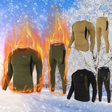 Men Tactical Outdoor Sports Warm Clothing Fleece Thermal Underwear Outdoor Sports Fleece