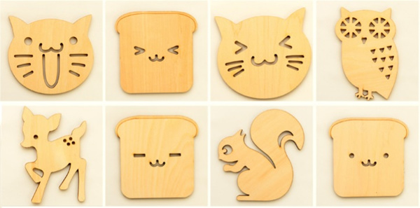 [SG] Cute Wooden Cup/Mug Coaster. Home Decor. For home or office. Housewarming Gift. Cup Holder. Deals for only S$1.5 instead of S$0