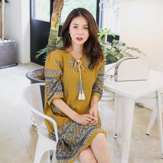 ロロテンジャブイザベル・OPS 綿ワンピース/ 韓国ファッション