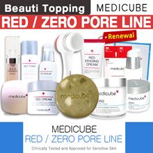 ONLY 1-DAY SUPER DEAL DOUBLE SAVINGS!★MEDICUBE★Red/Zero Line(Red Body Bar/Zero Pore Pad/Serum/Cream)