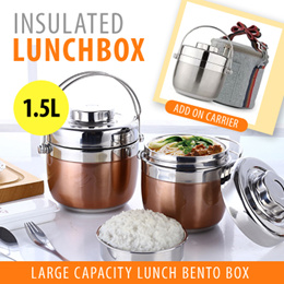 ★SG ★[GENUINE] 2018★Stainless Steel Thermal Lunch Pot/Lunch Box/Bento Box★1.5 Litre★BPA Free★