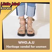 2018 New arrival★ 【E-LAND WHO.A.U】 Heritage sandals for women / 2 colors