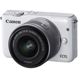 Canon Canon EOS M10 Mirrorless Digital Camera with 15-45mm Lens / WHITE / 18.0MP APS-C CMOS Sensor /