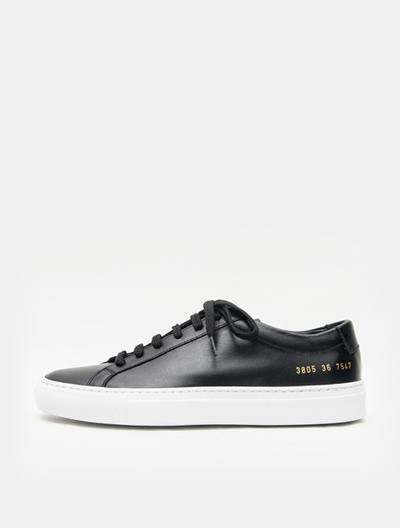 d3d71d7f61d17 Qoo10 - COMMON PROJECTS Original Achilles Low White Sole - Black ...