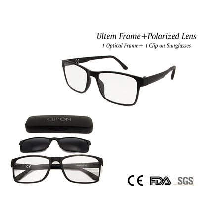 4aa014b75d New Eyeglass Magnetic Clip on Sunglasses Polarized Lens Ultem Eyewear Frames  Women Men Unisex in Cle