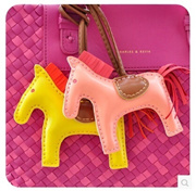 Korea cute little pony pendant bag pendant cute female ornaments car accessories decorations