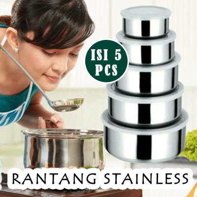 Rantang Stainless isi 5 Rantang Stainless contents 5 SJ0052 k001 Deals for only Rp38.000 instead of Rp38.000