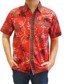 Batik Short Sleeve Shirt/Men Shirt/Office Wear/Casual Wear Size S M L and XL