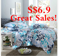 Great Christmas SALES!!!  1250TC Quilt Cover Luxury Queen Bedsheet Set| Queen/King Size| Anti Dustmi