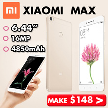 Xiaomi Mi Max 6.44 Inch | Fingerprint Identification  |16MP Camera  |Snapdragon 650