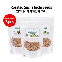 [2+1 Bundle Promo] Roasted Sacha Inchi Seeds 200g_Direct from Indonesia