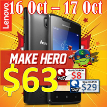 Lenovo|A1000|8GB|Black|1 Years Warranty| Free gift Back Cover + Film