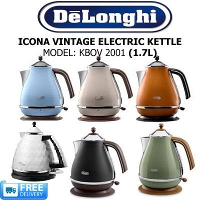 3cb75c4fcf DELONGHI - ICONA VINTAGE ELECTRIC KETTLE - 1.7L - 2000W - MODEL  KBOV 2001