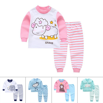 3391c0a1a Qoo10 - 2pcs Kids Baby Boys Girls Clothes Top+Pants Cotton Baby ...