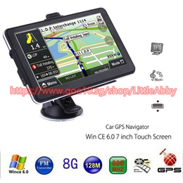 704 7 inch Truck Car GPS Navigation Navigator with Free Maps Touch Screen / E-book / Video / Audio /