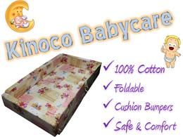 MattressSG.KINOCO Babycare mattress★Baby Bed★Bumper★Safe★Foldable★Play Mat★100% Cotton bed sheet