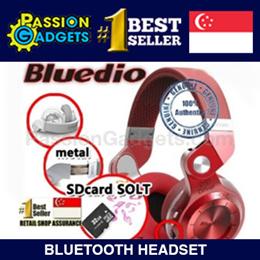 [SG SELLER]★Authentic★New T2+ T2(SDcard Slot+FM radio scan) 100% Genuine Bluedio Q5 N2 S3★Sweatproof