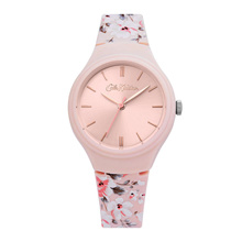 CATH KIDSTON QUARTZ PINK FLORAL ALLOY QUARTZ CKL068P ROSE GOLD POLYURETHANE STRAP WOMEN WATCH