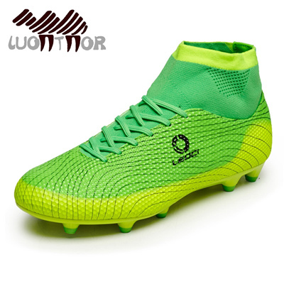 23236f44 LUONTNOR 2018 New Adults Men Soccer Cleats Shoes Boys Kids Ankle Top  Football Boots Training Soccer