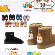 Gracegift-Disney Tsum Tsum Textured Mini Boots/Women/Ladies/Girls Shoes/Taiwan Fashion